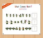 Exécution du jeu éducatif de modèle pour les enfants préscolaires illustration libre de droits
