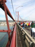Exécution du marathon de passerelle Photo stock