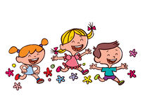 Exécution heureuse d'enfants illustration libre de droits
