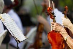 Exécution offerte d'orchestre symphonique photographie stock