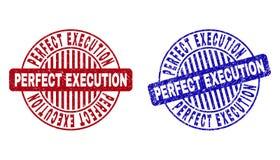 EXÉCUTION PARFAITE grunge rayée autour des joints de timbre illustration libre de droits