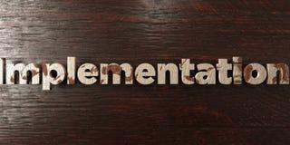 Exécution - titre en bois sale sur l'érable - image courante gratuite de redevance rendue par 3D illustration libre de droits
