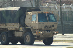 Exército americano no Polônia Fotografia de Stock Royalty Free