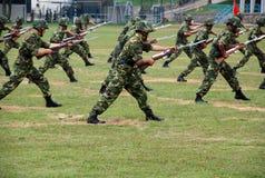 Exército chinês na guarnição de Hong Kong Imagens de Stock Royalty Free