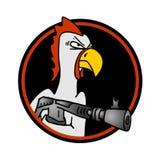 Exército da galinha ilustração royalty free