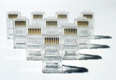Exército da rede de UTP imagem de stock