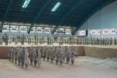 Exército da terracota Imagens de Stock