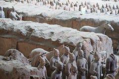 Exército da terracota, xi, porcelana Foto de Stock
