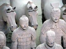 Exército de guerreiros do Terracotta Fotos de Stock