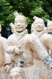 Exército de guerreiros do terracotta imagem de stock