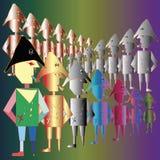 Exército de piratas pequenos ilustração do vetor
