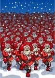 Exército de Santa Clauses ilustração royalty free
