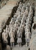 Exército de Terracota do primeiro imperador de China fotografia de stock