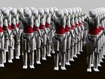 Exército do robô ilustração stock