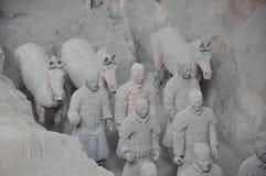 Exército dos guerreiros do Terracotta Imagem de Stock Royalty Free
