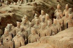 Exército dos guerreiros do Terracotta Foto de Stock