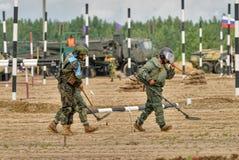 Exército Games-2017 Competição Tyumen da rota segura Rússia Fotos de Stock