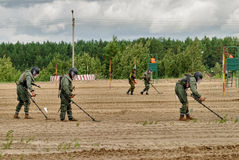 Exército Games-2017 Competição Tyumen da rota segura Rússia Imagens de Stock Royalty Free