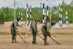 Exército Games-2017 Competição Tyumen da rota segura Rússia Fotografia de Stock Royalty Free