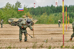Exército Games-2017 Competição Tyumen da rota segura Rússia Foto de Stock Royalty Free