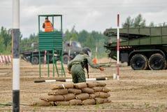 Exército Games-2017 Competição Tyumen da rota segura Rússia Fotografia de Stock
