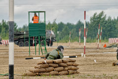 Exército Games-2017 Competição Tyumen da rota segura Rússia Imagens de Stock
