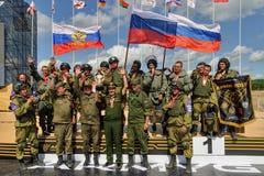 Exército Games-2017 Competição Tyumen da rota segura Rússia Imagem de Stock Royalty Free
