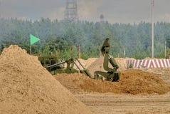 Exército Games-2017 Competição Tyumen da rota segura Rússia Fotos de Stock Royalty Free