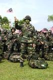 Exército malaio de Wataniah no dia nacional Imagens de Stock