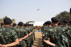 Exército tailandês foto de stock