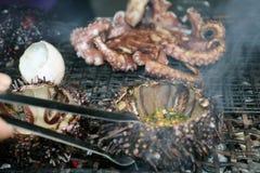 Exótico barbacoa de los mariscos en Vietnam Imagen de archivo
