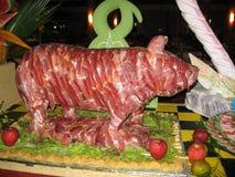 Exótico del Caribe del arte culinario de la carne cruda de la cocina Imágenes de archivo libres de regalías
