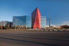 Ex budynek Białoruś Potaż Firma, teraz biurowy bank rozwoju, Minsk Białoruś Obraz Stock
