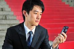 Ex?cutif asiatique intuitif 10 de technologie Photos libres de droits