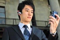 Ex?cutif asiatique intuitif 13 de technologie Images stock