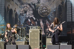 Ex Deo on Metalfest 2013. Show of Ex Deo metal band on Metalfest 2013 Royalty Free Stock Image