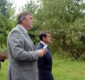The ex-Governor of the Yaroslavl region, Deputy Minister of natural resources and ecology of Russia Sergey Yastrebov and Russian p Stock Photo