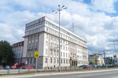 Ex-office of the provincial governing bodies of the polish united workers party. Now Public prosecutor`s office in Poland. Gdansk, Poland - September 22, 2018 stock image