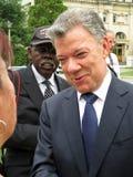 Ex President Juan Manuel Santos bij de Nationale Kathedraal royalty-vrije stock fotografie