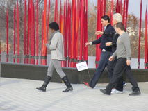 Ex-presidente de EUA Bill Clinton para fora para uma caminhada Imagem de Stock Royalty Free