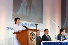 Ex presidente filippino Gloria Arroyo Immagini Stock Libere da Diritti