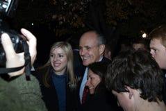 Ex sindaco Rudy Giuliani ed avvocato corrente di New York di Trump in Glendale, md immagine stock libera da diritti