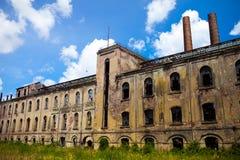 Ex suikerfabriek royalty-vrije stock foto