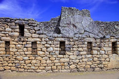 The exact composition of stones World Heritage Machu Picchu in P. Eru Royalty Free Stock Photo