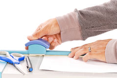 Exact Measurements. With Photo Cutting Device stock photo