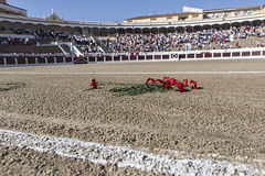Exact place where he died Manuel Rodriguez Sanchez. Linares, jaen province, SPAIN - August 28, 2014: Exact place where he died Manuel Rodriguez Sanchez Manolete Stock Photography