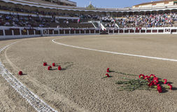 Exact place where he died Manuel Rodriguez Sanchez. Linares, jaen province, SPAIN - August 28, 2014: Exact place where he died Manuel Rodriguez Sanchez Manolete Stock Image