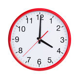 Exactly four on round clock face Stock Images