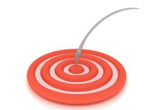 Exactly on target Royalty Free Stock Photo