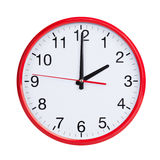 Exactly two on round clock face Stock Photography